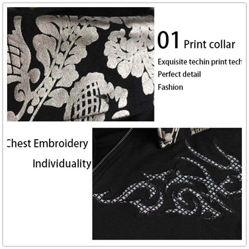 TFETTERS Summer Hot Casual Tshirt Men Silver Dragon Tattoo Collar Short Sleeve Cotton T-shirt Men Tee Shirt Plus 5XL