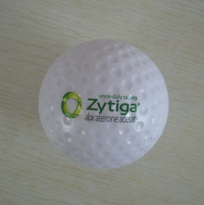 6.0cmdia OEM pu foam material pu golf stressball, golf toy,promotion gifts,in printing your logo 50pcs/lot