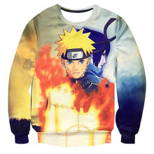 2016 New Brand Design Men and Women 3d Character Print Hoodies and Sweatshirts Naruto Anime Hoodies Homme Boy's Outwear Cloth