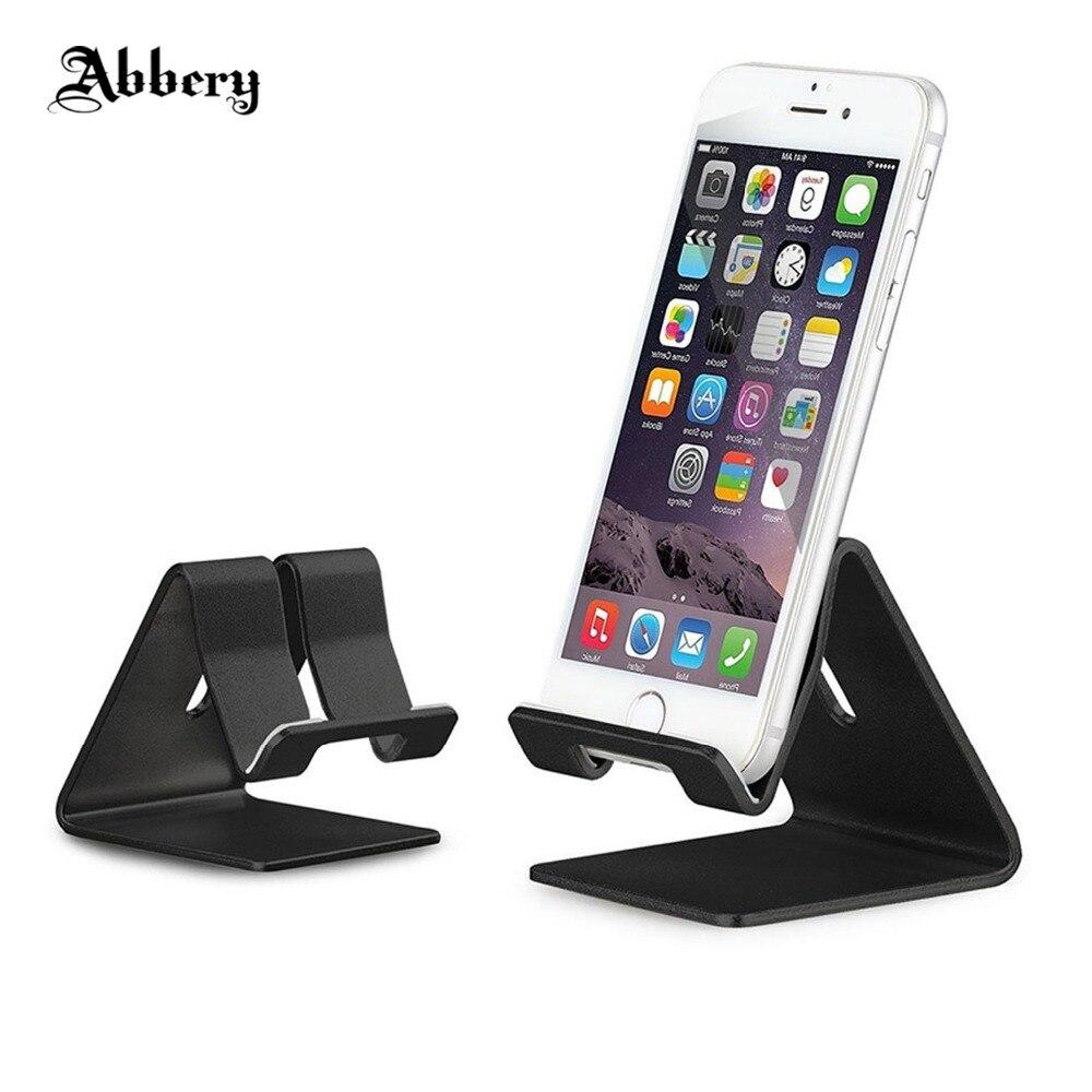 Abbery Универсальный мобильный телефон подставка держатель алюминиевый сплав стол держат ...