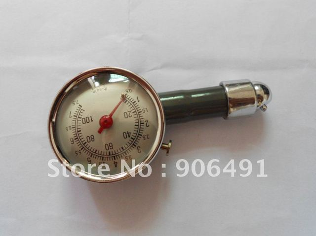 Car Air Pressure Tyre Tire Gauge mental 76g weight 0-100psi 0-7.5 bar with box