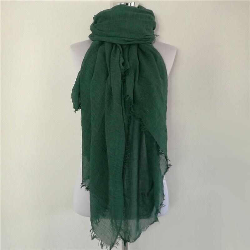 Nueva mujer bufanda shemagh alta calidad chales y bufandas de lino - Accesorios para la ropa