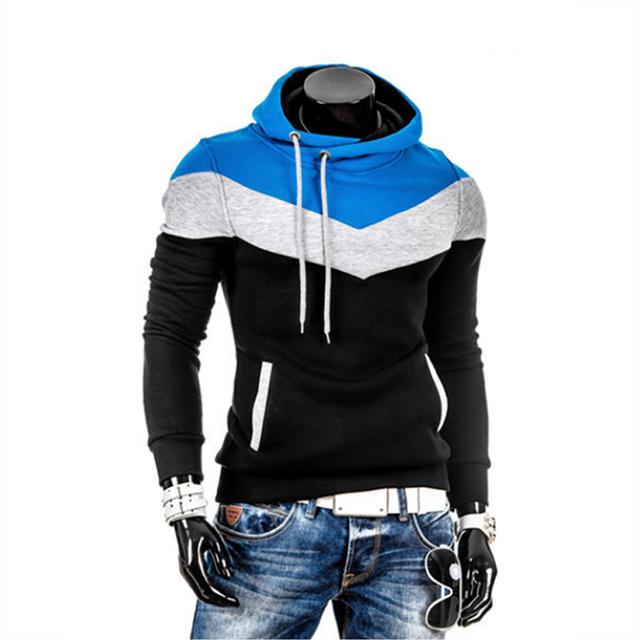 2018 Winter Man Hoodie Sweatshirt Slim Fit Hooded Pullover Hip Hop Jacket Hoody Sportswear Sweatshirt Male Tracksuits M-3XL 25