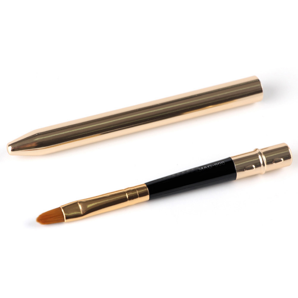 Lip Brush Makeup Brushes Applicator Lipstick Brushes Beauty Metal Tools Smooth Lipstick Gloss Lip Brush Make Up Gift 1pcs