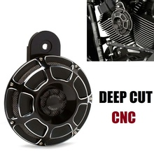 MOTORCYCLE Black Deep Cut CNC Horn Cover for Harley FLT Touring big twin 91-14