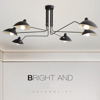 Lámpara colgante clásica Industrial moderna para Loft 2019 para sala de estar, dormitorio, candelabro giratorio, luces de pared para decoración del hogar