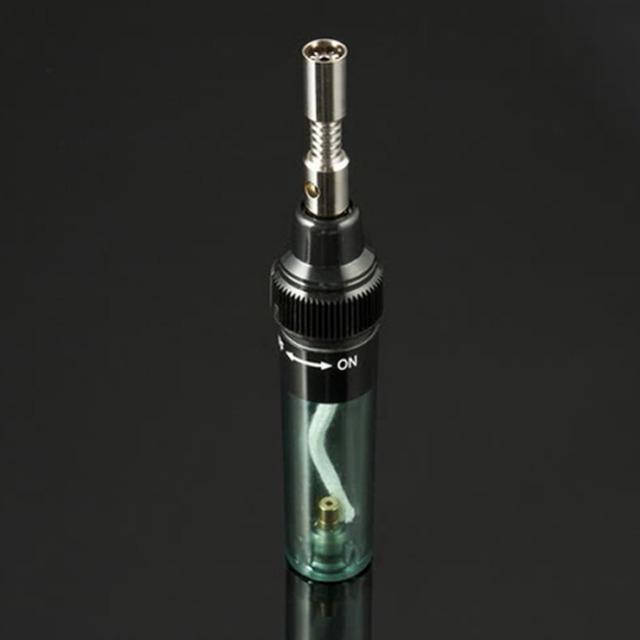 DIY Butane Gas Gun Torch Tip Tool Transparent Soldering iron Tools1pcs Electronics Soldering Iron Pen Shaped Cordless