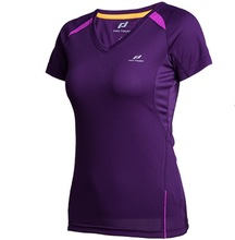 Womens Summer Running Shirt Short Sleeve V Collar Breathable Mesh Quick-drying  Fitness Training Sweat T-shirt Running Top