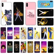 Lavaza Freddie Mercury Queen band Hard Phone Case for Apple iPhone 6 6s 7 8 Plus X 5 5S SE XS Max XR Cover
