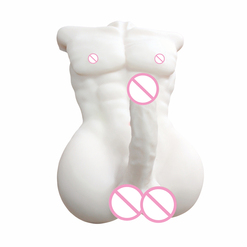 HISMITH New White Realistic Full Silicone Male Doll with Big Dildo Sex Doll for Women or Men Gay Sex Product Love Doll for Women news 2016 realistic 70cm 88cm 110cm half body silicone sex doll for window display