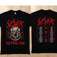d8702ca70 SLAYER Shirt Tour T-shirt THE FINAL TOUR Printed Pure Cotton Men'S Short  Sleeve Round