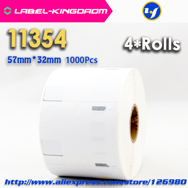 4 Rolls Dymo Compatible 11354 Label 57mm*32mm 1000Pcs Compatible for LabelWriter 400 450 450Turbo Printer Seiko SLP 440 4504 Rolls Dymo Compatible 11354 Label 57mm*32mm 1000Pcs Compatible for LabelWriter 400 450 450Turbo Printer Seiko SLP 440 450