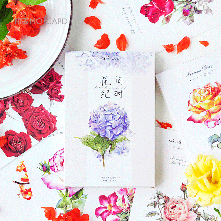30 Sheets/Set Flower Season Postcard /Greeting Card/Message Card/Christmas And New Year Gifts Cards