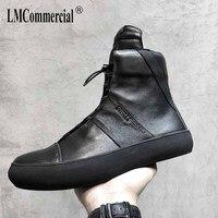 Korean British Martin Boots all match cowhide Autumn Winter highsneakers designer men shoes high quality luxury brand big size