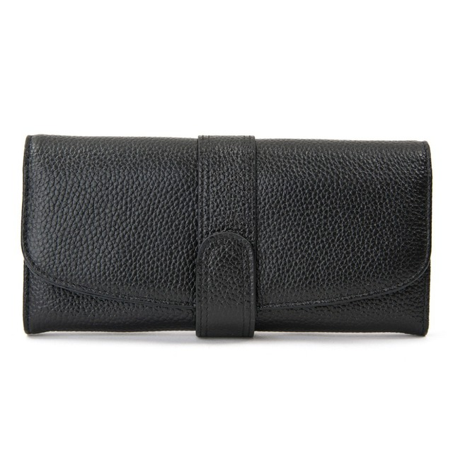 Free shipping, Soft Genuine Real leather Women's Wallet Purse Clutch bag, 8 Card pockets, Mutil- Colors in stock, Coins bags