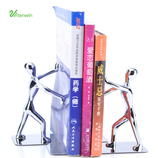 1 Pair Strong Metal Bookend Books Stationery Read Portable Holder Bookshelf Bookstand Student Desk Accessories Organizer