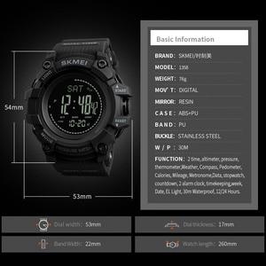 Image 4 - SKMEI מותג Mens ספורט שעונים שעות מד צעדים קלוריות הדיגיטלי מד מדחום מזג אוויר גברים שעון