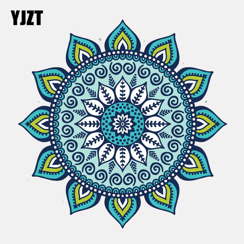 YJZT 11.8CM*11.8CM Creative Colourful Mandala Sticker Motorcycle Car Sticker Decal 6-2925