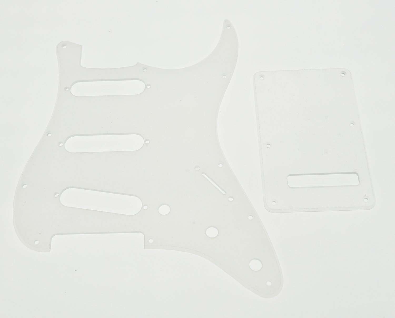 Clear ST Guitar SSS Pickguard Scratch Plate Transparent Trem Cover бусики колечки комплект виола имитация нефрита арт st 537 sss