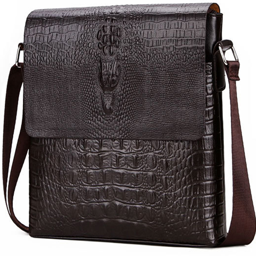 d171f05f7d men briefcase bag Crocodile messenger bags for men crossbody shoulder bag  Alligator male ipad Tablet PC IPAD handbag mens bags - modawearz