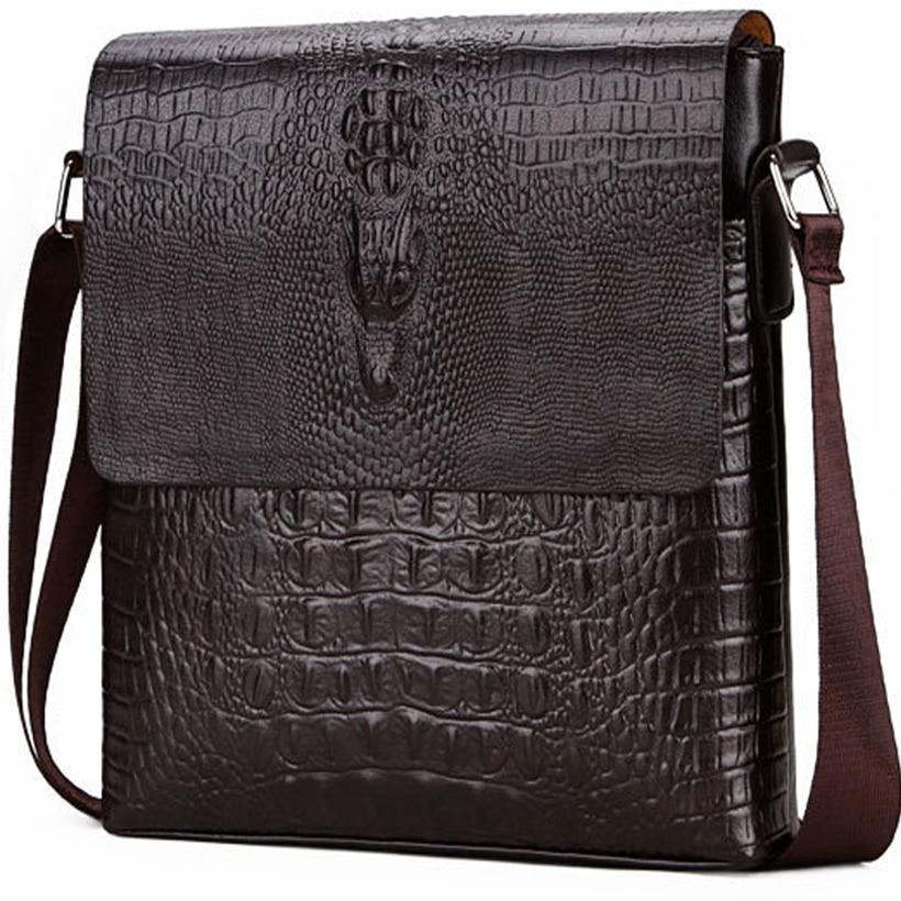Men Briefcase Bag Crocodile Messenger Bags For Men Crossbody Shoulder Bag Alligator Male Ipad Tablet PC IPAD Handbag Mens Bags