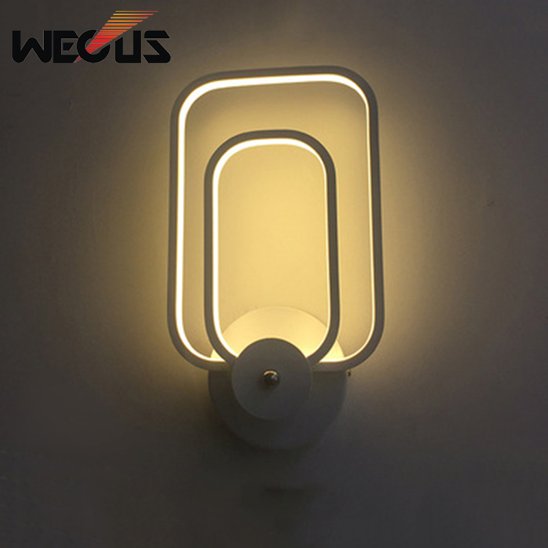 Modern aluminium wall lamp concise fashion simple LED wall light bedroom livingroom bedside study lamp