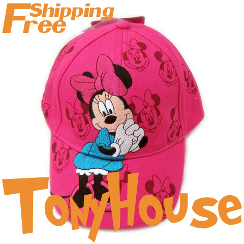 wholesale girls cartoon Minnie Mouse baseball caps, children girls sports hat free shipping