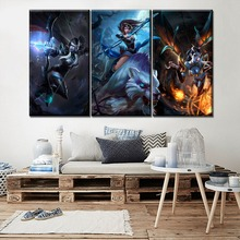 Game Poster Modern Home Decorative Wall 3 Piece Canvas Art Print Drow Ranger And Mirana Queen Of Pain DotA 2 Painting