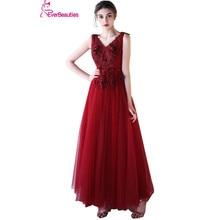 Elie Saab Elegant Evening Dress Long 2018 Tulle Lace Appliqued Sleeves V Neck Robe De Soiree Wedding Prom Party Dresses Abiye