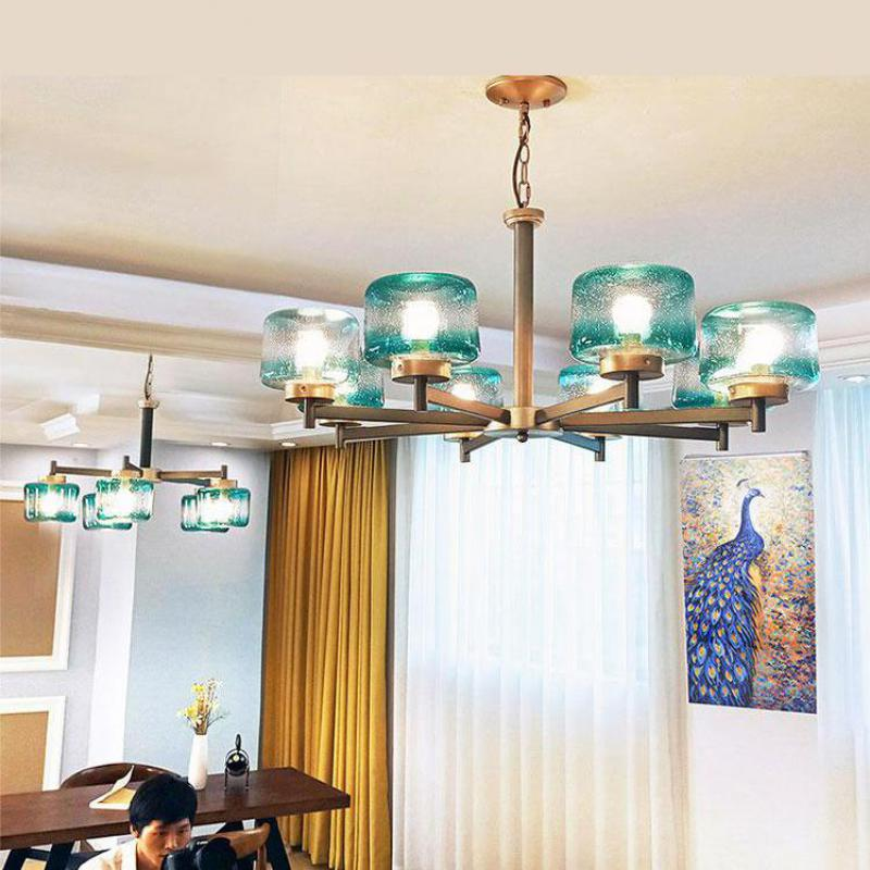 Nordic Blue Home Living Room Chandeliers Creative Modern Personality Glass Chandelier Atmosphere Bedroom Light Luxury LampsNordic Blue Home Living Room Chandeliers Creative Modern Personality Glass Chandelier Atmosphere Bedroom Light Luxury Lamps