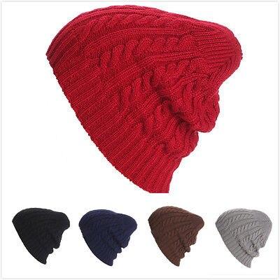 2016 New Winter Women Men Warm Knit Ski Crochet Slouch Hat Cap Beanie Hip-Hop Twist Hat pentacle star warm skull beanie hip hop knit cap ski crochet cuff winter hat for women men new sale
