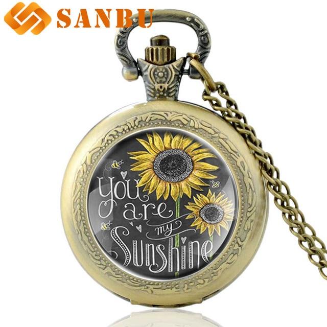 'Si Sono Il Mio Sunshine' Collana Di Fascino Dell'innamorato Di Tasca Del Quarzo