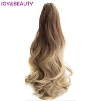 JOY BEAUTY Hair Long Wavy Ombre 20 Clip On Curly Hair Extensions Claw Pony Tail Synthetic
