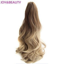 JOY&BEAUTY Hair Long Wavy Ombre 20″ Clip On Hair Extensions Claw Pony Tail Synthetic Hairpiece Heat Resistant Ponytail