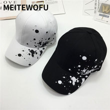 2019 summer baseball cap cute Fresh candy color Casual hat doodle  Spring cotton men and women fashion tide caps Unisex sun hats
