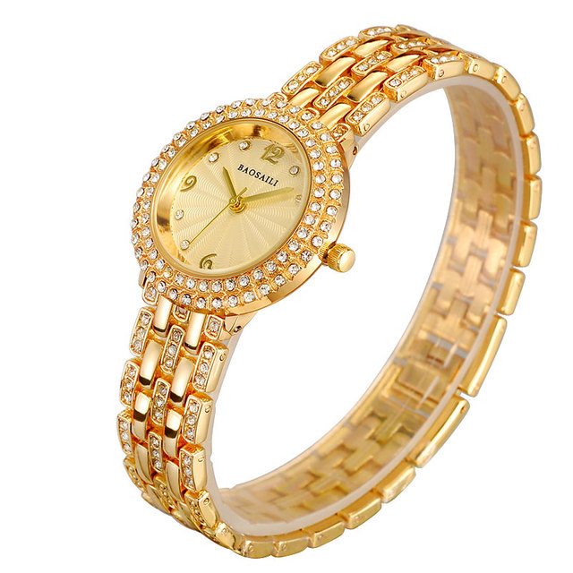 B-8111 BAOSALI Fashion Ladies Alloy Bracelet Watch Diamond Brand Watches Relojes Mujeres Water Resistant Clock For Women