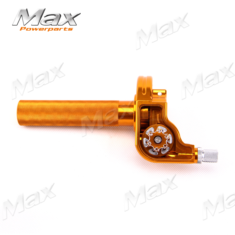 YELLOW 2016 Aluminum Adjustable CNC Twister Throttle Clamp Assy XR50 CRF50 XMOTO TAOTAO APOLO BOSUER KAYO Chinese Pit Dirt Bike