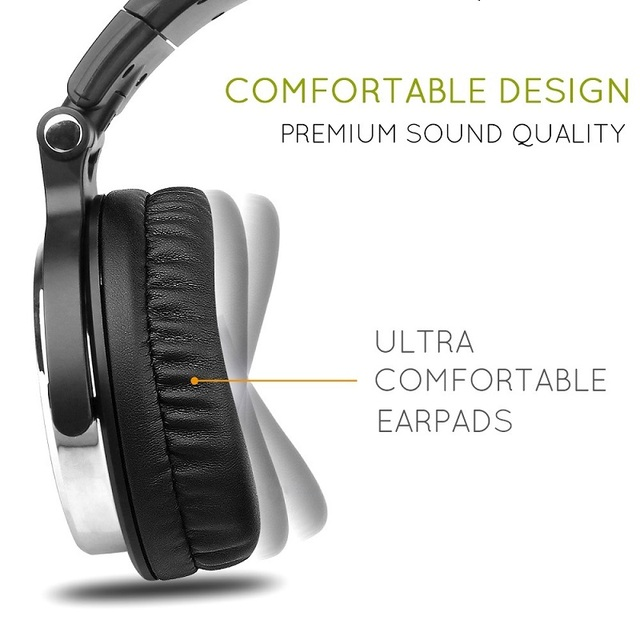 Oneodio Wired DJ Headphones Bass Stereo Gaming Headset With Microphone For Phone Over Ear Professional Studio Monitor Headphone 2