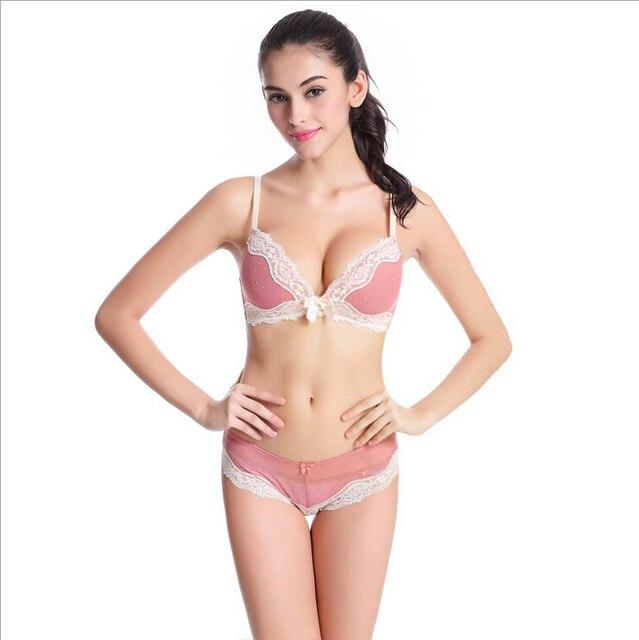 940a86810f Conjunto de Sujetador de encaje de marca francesa conjunto de ropa interior  Sexy para mujeres jóvenes