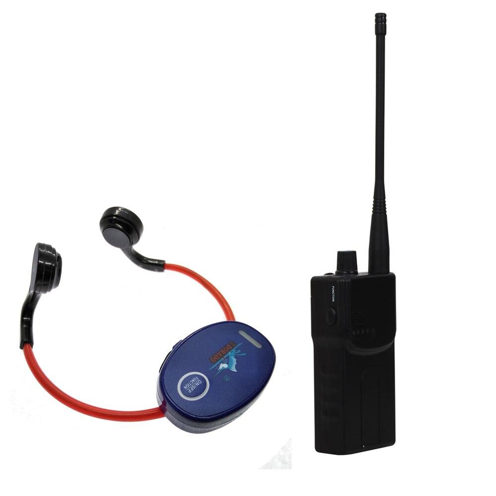 Condução óssea Natação Ensino Gadget para o Clube de Natação com 1 Walkie Talkie + 10 Receptores + 1 Microfone de Fone De Ouvido À Prova D' Água