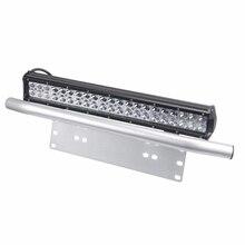Лицензионный кронштейн держатель внедорожник передний бампер дневной свет бар для внедорожных огней, светодиодный лампы для работы