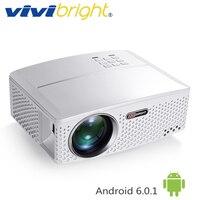 VIVIBRIGHT 1800 Lumens LED Projecteur GP80/UP. (En option Android 6.0.1, WIFI, Bluetooth Simple Beamer) pour TV LED Home Cinéma