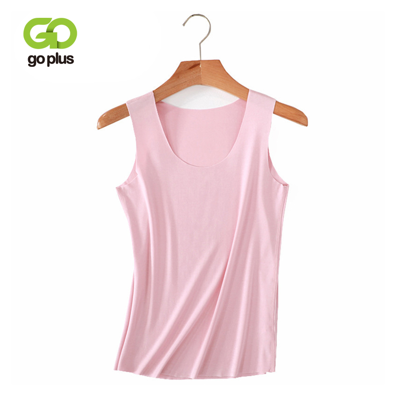 GOPLUS Soft Cotton Basic   Tank     Top   Women Camisole Sexy V neck Sleeveless Vest Ladies shirts Casual Elastic Slim Camis Female   Tops