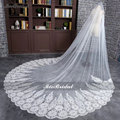 Lace Edge 3 Meter Ivory/White Luxury Cathedral Wedding Veil Hot Sale Wedding Accessories Long Bridal Veils velos de novia DM-31