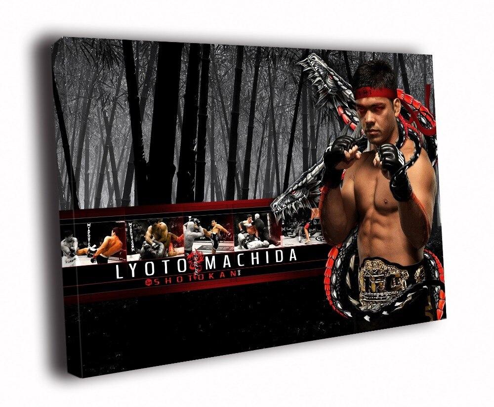Impression sur toile HD peinture-le Dragon Lyoto Machida MMA arts martiaux D5466