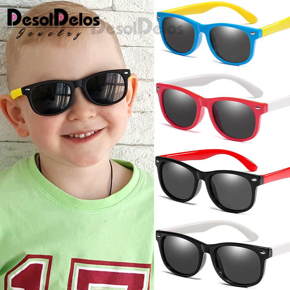 DesolDelos เด็กแว่นตากันแดด Polarized TR90 เด็กคลาสสิกแว่นตาเด็กแว่นตาเด็กแว่นตากันแดด UV400 Oculos D322