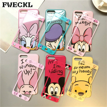 hot deal buy 360 full cover phone case + glass for iphone x xr xs max 8 7 6 6s plus iphone 7 iphone x iphone 8 coque women cartoon case cover