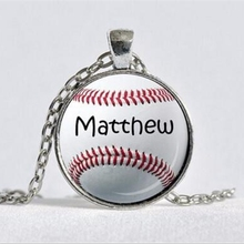 Baseball pendants promotion shop for promotional baseball pendants personality baseball pendant softball jewelry necklaces little league mom glass pendant red white black mom gift a 039 hz1 aloadofball Gallery