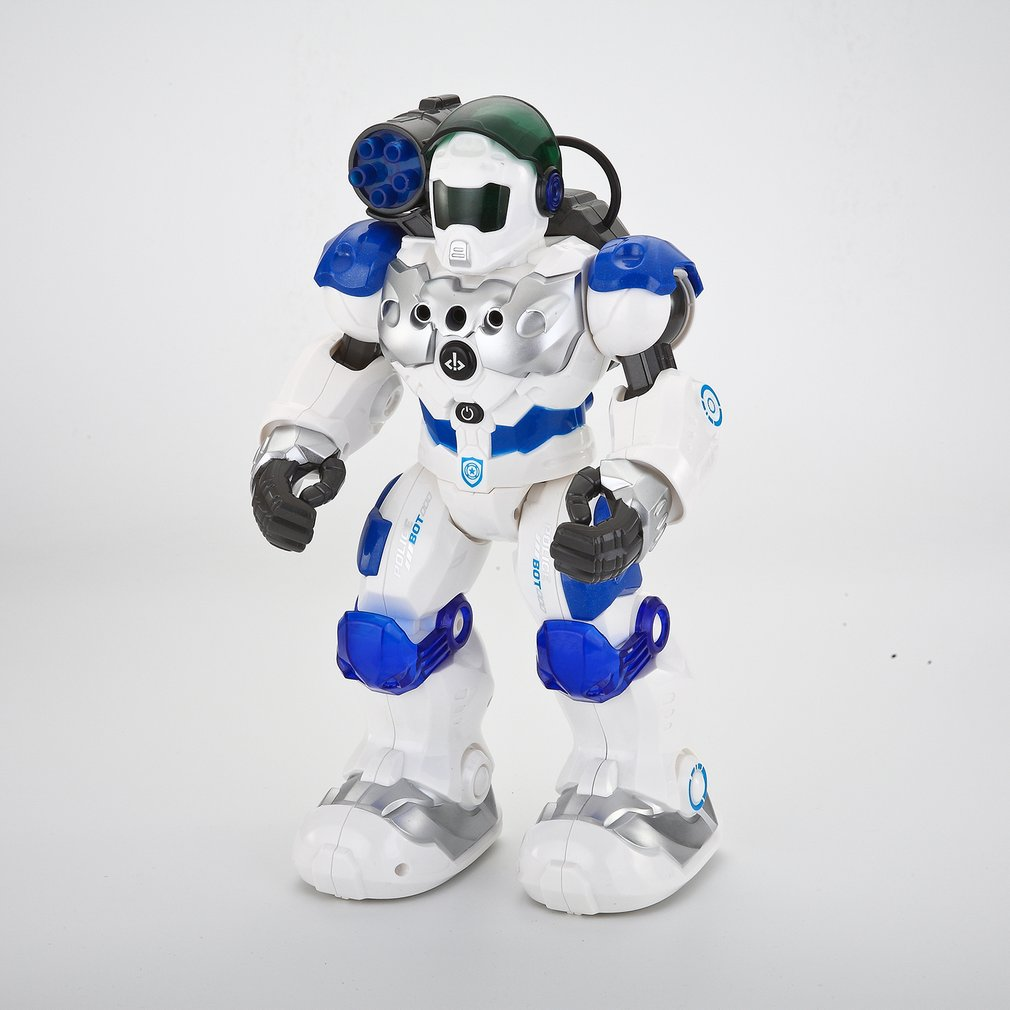 Enfants Intelligent RC Robot jouets Programmable Combat défenseur danse marche lumière musicale télécommande Robots jouet enfant cadeaux