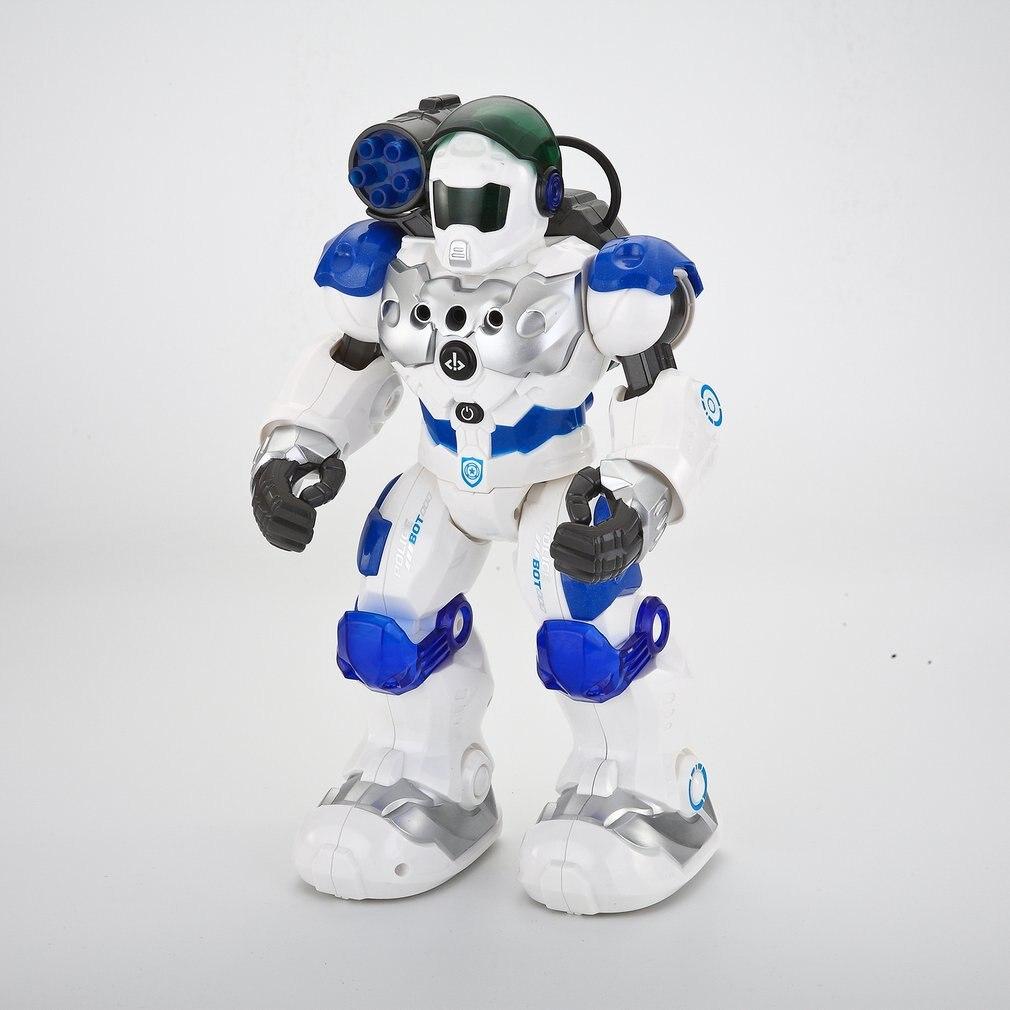 Enfants Intelligente RC Robot Jouets Programmable Combat Defender Danse Marche Lumière Musical Télécommande Robots Jouet Enfant Cadeaux